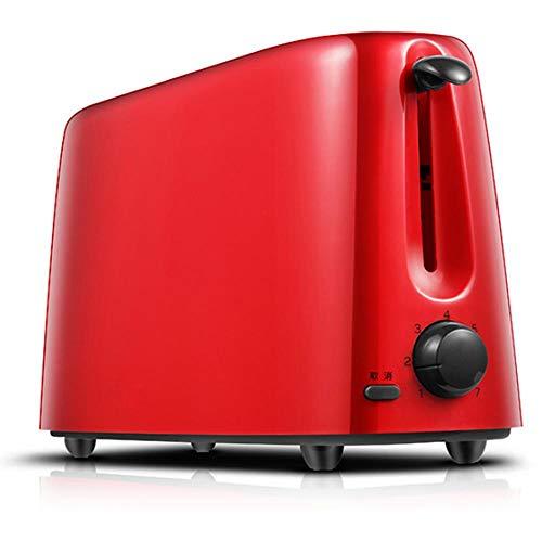 Tostadora profesional Dainty Legacy con acabado en color pastel, dos rebanadas, acero inoxidable-Tostadora automática roja