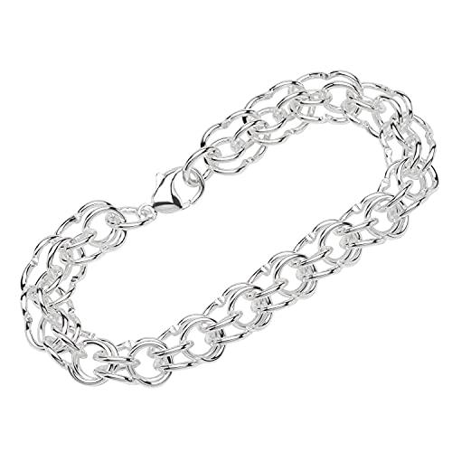 NKlaus Armband 925 Sterling Silber 22cm Garibaldi Kette Unisex Anker Armkette exquisit 12876