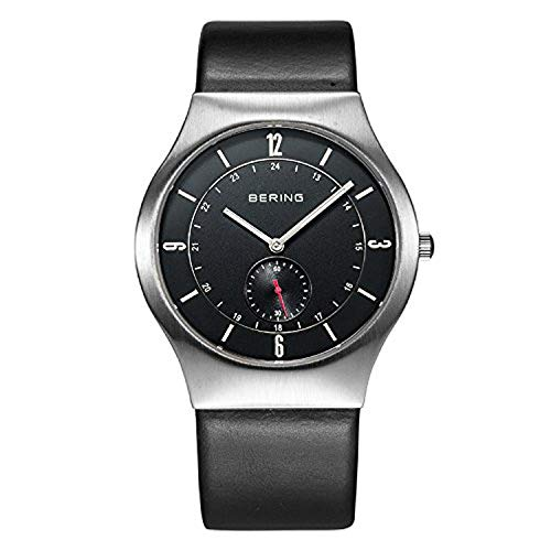Bering Time 11940-409 –Reloj de cuarzo para hombre con esfera analógica de color negro