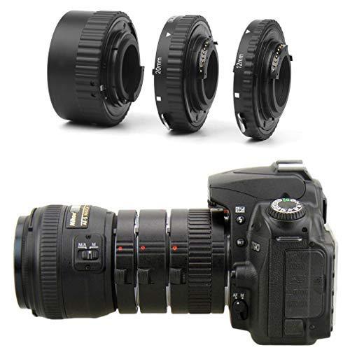 Enfoque Automático de Extensión Macro Juego de Tubos para Nikon D7500 D7200 D7100 D7000 D5600 D5300 D5200 D5100 D5000 D3100 D3000 D800 D600 D300s D90 D80 Cámara Digital DSLR