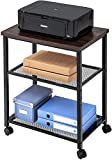 INDIAN DECOR 29800 Wooden-MDF Printer Stand, Trolley with Wheels with Sturdy Metal Frame