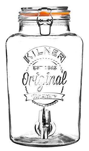 Kilner - Dispensador de bebidas redondo P001, Vidrio, 8 Litre