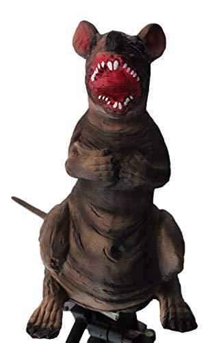 Rcsinway De Halloween máscara Cosplay de Terror látex de Halloween apoyos Persona Entero de pie Ratones Modelo de ratón Tricky apoyos de Terror Juguete (Color : Black)
