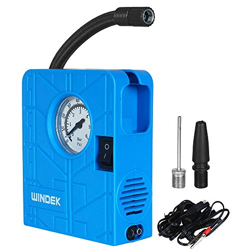 Automaze 12V Portable Mini Air Pump Compressor Tyre Tire Inflator for Car, Bike, Bicycle, Motorcycles, Balls, with LED Light