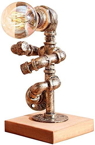 okuya Personalidad estadounidense creativo retro industrial lámpara de cabecera del tubo de agua lámpara de escritorio Simplificar la lámpara de lectura Estudio Loft Bar Tabla luces E27 Edison Hierro