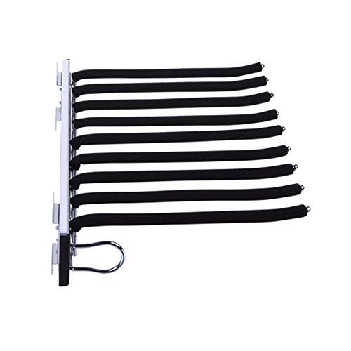 Percha para pantalones extraíble, corbatero retráctil multifuncional para el hogar, organizador de riel de suspensión deslizante, cinturón flocado, carga estable, instalación en el lado izquierdo