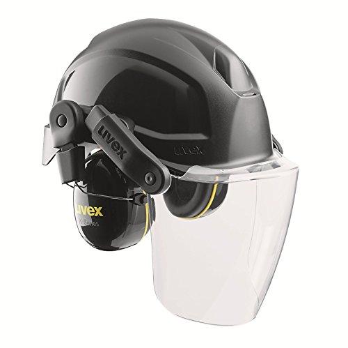 Uvex Pheos Helmsystem nach EN 397 - Schutzhelm + Visier + Gehörschutz - Schwarz