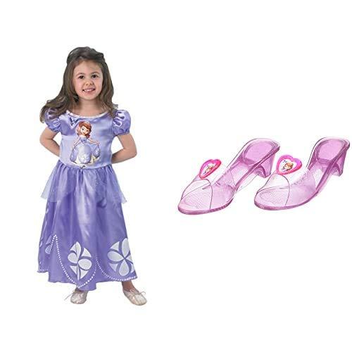 Rubies`s - Disfraz infantil de Sofia clsico (889547-S) + Princesas Disney - Zapatos de Princesa Sofa para nias, disfraz infantil - Talla 4-6 aos ( 36171)