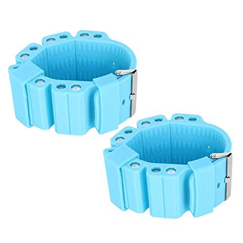 SALUTUYA Pulsera con Soporte de Peso para Yoga Pulsera con Soporte de Peso Deportivo Durable Azul Oscuro Azul Claro, para Mujer(Light Blue)