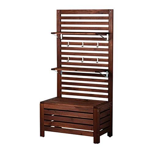 Ikea Applaro bank W/paneel en planken buiten bruin gekleurd bruin 298.979.79 Grootte 31 1/2x17 3/8x62 1/4