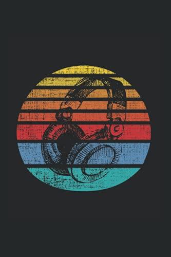 Notizbuch: Musikliebhaber Retro Kopfhörer DJ Produzent Notizbuch DIN A5 120 Seiten für Notizen Zeichnungen Formeln | Organizer Schreibheft Planer Tagebuch