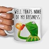 Thats None of My Business Kermit The Frog Tazza da caffè, tazza da tè e Internet Meme (311,8 g)