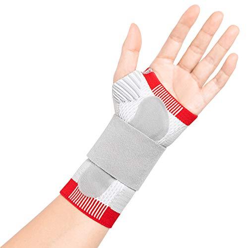 Thx4COPPER Kompression Handgelenkstütze Handgelenk bandage - Handstützschiene mit dorsalem Druckkissen - Karpaltunnel, Sehnenentzündung, Arthritis, Gelenkmuskelschmerzen, Sport Handbandage -links