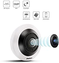 TMEZON 5.0 Megapixel IP Security Camera 360°VR Panoramic Surveillance Camera with IR Night Vision Motion Detection for Ind...