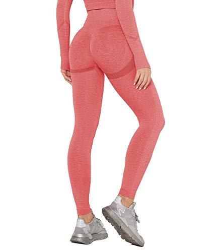 DUROFIT Scrunch Butt Sportleggings Booty Lifting Leggins Sportstrumpfhosen Po Push Up Ruched Sport Tights Yoga Pants Laufhose Fitnesshose Yogahose Jogging Running Workout Leggings Training Gym Fitness