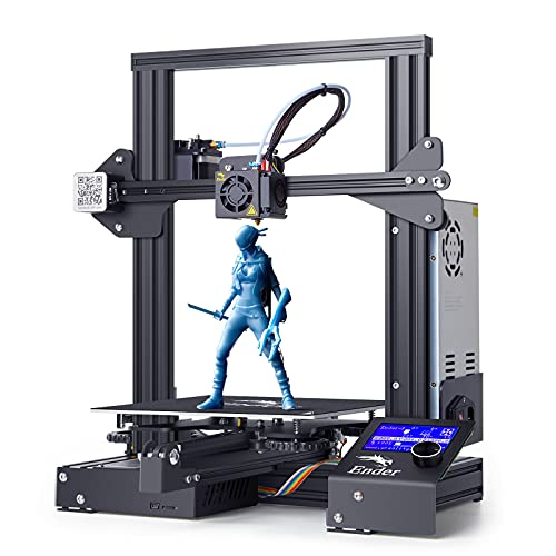 Creality Ender 3 Impresora 3D, Impresión de Alta Precisión, Reanudar la Función de Impresión, Impresión Estable, Funcionamiento Sencillo, Tamaño de Impresión 220*220*250mm