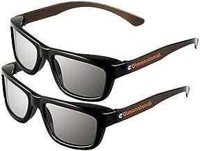 ED 2 Pack CINEMA 3D GLASSES For LG 3D TVs – Adult Sized Passive Circular Polarized 3D Glasses