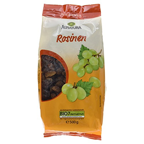 Alnatura Bio Rosinen, vegan, 6er Pack (6 x 500 g)