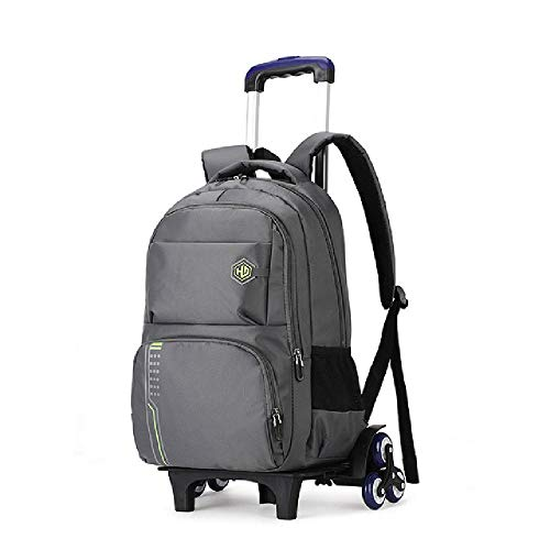 RTHR Trolley waterproof backpack Wheeled travel trolley case/backpack Removable backpack School backpack for boys/girls