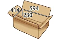 In The Box ダンボール 段ボール「衣類用J7 (594×414×高さ230mm) 10枚」茶色