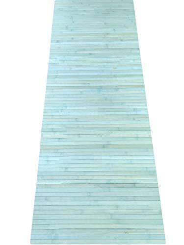 Tappeto bamboo a METRAGGIO vari colori disponibili ANTISCIVOLO (cucina bagnpo camera sauna) (Verde)