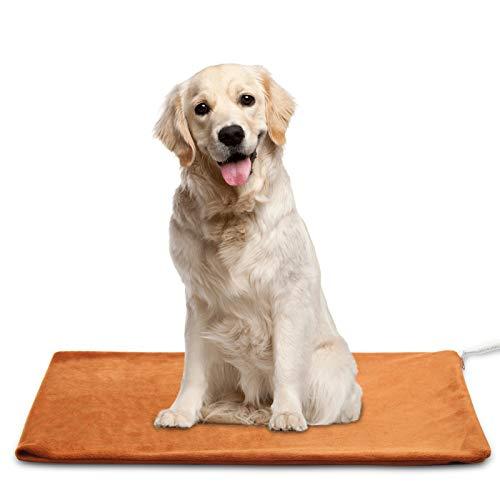 MARUNDA Pet Heating Pad,Cat Dog Electric Pet Heating Pad Indoor Waterproof, Constant Temperature, Chew Resistant Steel Cord