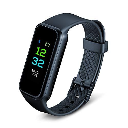 Beurer AS 99 Pulse Bluetooth Aktivitätssensor mit farbigem Touchscreen, Pulsmessung am Handgelenk inkl. automatischer Messfunktion, Aktivitäts- und Schlaftracking und Bewegungserinnerung