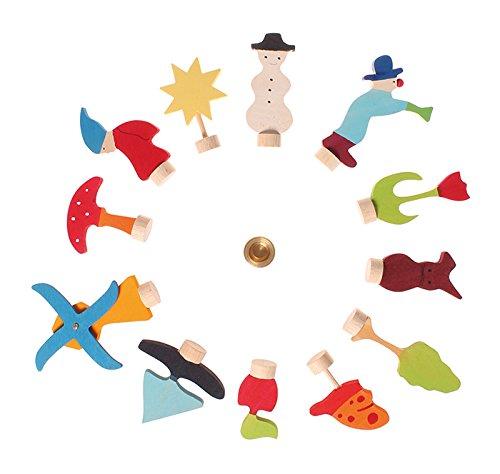 Grimms Spiel Und Holz Design Grimms Steckersortiment sortiert 12 Stecker, 03050