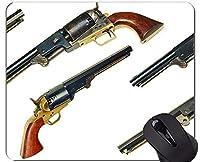 注文の元のヒョウシリーズマウスパッド、ステッチされた端が付いている銃のおかしいコルト海軍マウスパッド
