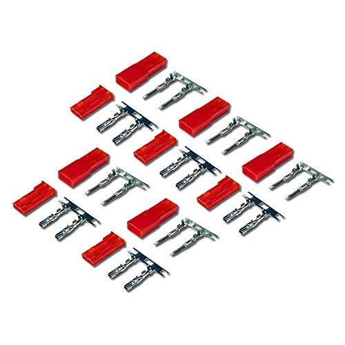 VUNIVERSUM 5 Paar (10 Stück) 2Pin Premium JST BEC Stecker Buchse Male Female inkl. Metal Pins Kontakte Crimp Set zum Crimpen für Lipo LED RC von Mr. Stecker Modellbau®