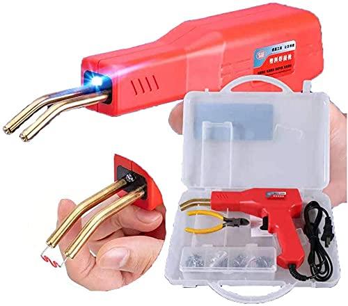 Grapadora caliente de 50W, equipo profesional de la máquina de la soldadura de la reparación de la grieta del coche, grapadora caliente Reparación de plástico Coche de parachoques de parachoques FENDE