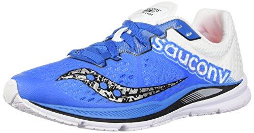 Saucony Herren Fastwitch 8 Langlaufschuh, Blau (blau/weiß), 43 EU