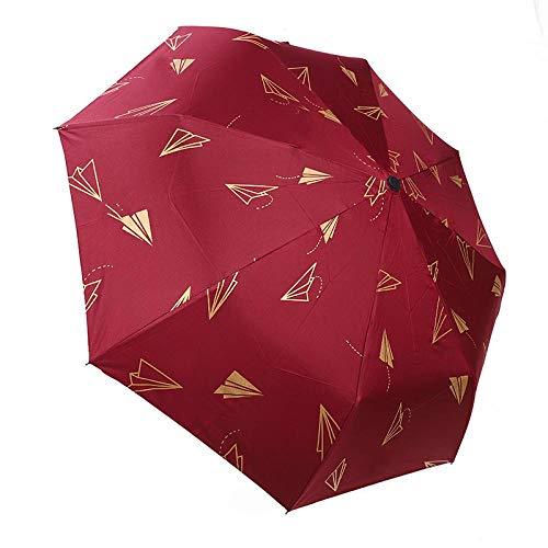 Sonnenschirm Regenschirm Mode Automatik Regenschirme Winddichte Faltregen Regenschirme Für Frauen Sonnenschirm Uv Papier Flugzeug Regenschirm Yd200005Rd