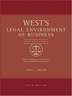 comprar comparacion West's Legal Environment of Business with Online Research Guide: Text, Cases, Ethical, Regulatory and International Issues
