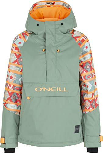 O'Neill Damen Original Anorak, Damen, Original Anorak, Rosa / Grün, Medium