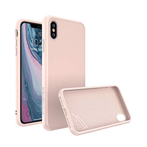 RhinoShield Case Compatible with [iPhone X] | SolidSuit - Shock Absorbent Slim Design Protective Cover with Premium Matte Finish [3.5M / 11ft Drop Protection] - Blush Pink