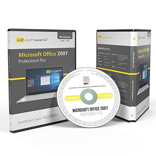 Microsoft® Office 2007 Professional Plus DVD mit original Lizenz. Papiere & Lizenzunterlagen von S2-Software GmbH. 32& 64-bit