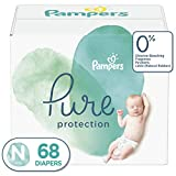 Pampers Pure Protection Newborn Diapers Size N, 68 Count