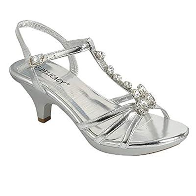 Delicacy Angel-48 Dress Open Toe Pumps Shoes Women Gold 6.5