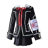Vampire Knight Cosplay Costume Yuki ou Black Womens Cross Black White JK Dress Uniform Halloween