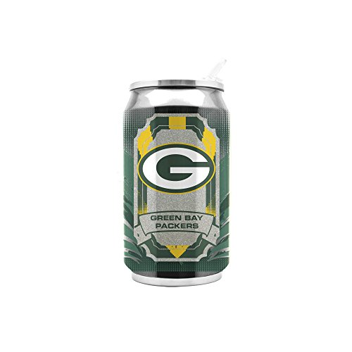 Duck House NFL Green Bay Packers 16oz Double Wall Stainless Steel Thermocan , White