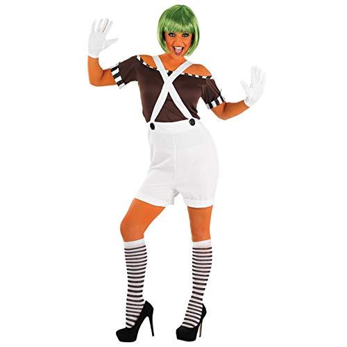 Fun Shack Costume Disfraz, Womens Oompa Loompa Dungarees, Small Women's