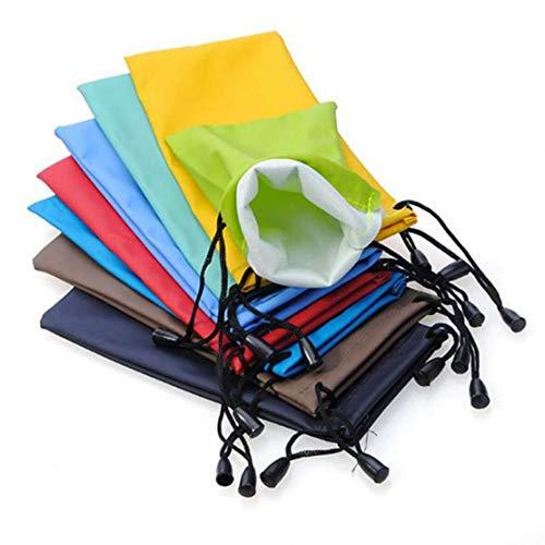 Lot de 10 pochettes de rangement avec cordon de serrage pour lunettes de soleil, téléphone portable, gadgets électroniques