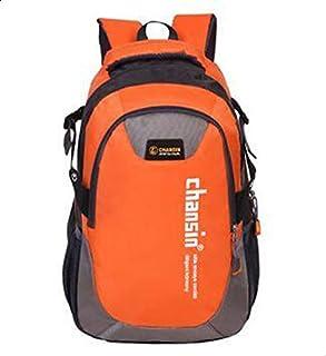 حقيبة ظهر للنشاطات الرياضية والخارجية قماش للجنسين - لون برتقالي