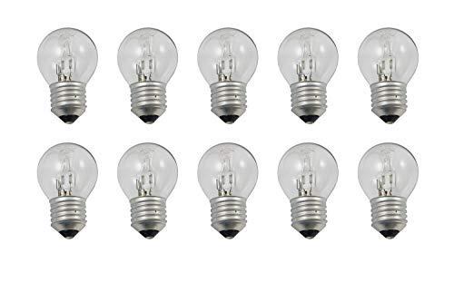 KRYSTAL Tropfen 28W (18W=24W) Klare Halogen Birnen Energiesparend E27, 10er Packung