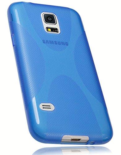 mumbi X-TPU Funda compatible con Samsung Galaxy S5 mini, azul