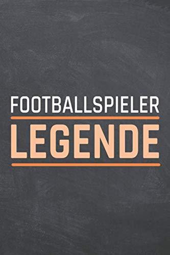 Footballspieler Legende: Footballspieler Punktraster Notizbuch, Notizheft oder Schreibheft - 110 Seiten - Büro Equipment & Zubehör - Lustiges Geschenk zu Weihnachten oder Geburtstag