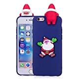 LAXIN Cute Case for iPhone 6 / 6s Cover Silicone 3D Santa Claus for Girls Women Boys, Soft Gel Shockproof Protective Cover Slim Backcover Thin Rubber Shell - Pink Panda