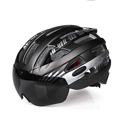 Fietshelm met afneembare magnetische bril zonneklep mountain racefiets mountainbike helm volwassen mannen en vrouwen verstelbare fietshelm buiten