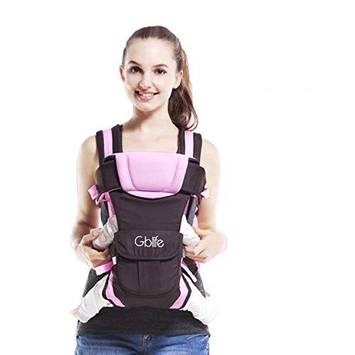 Ergonomische Babytrage Babytragetuch Einstellbares Mehrere Positionen Multifunktions-Freisprecheinrichtung Verstellbarer Rucksack für Baby...